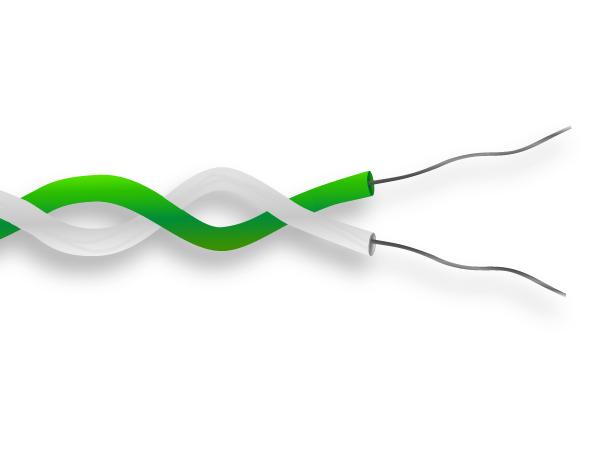 PFA ha isolato il cavo di termocoppia / cavo IEC