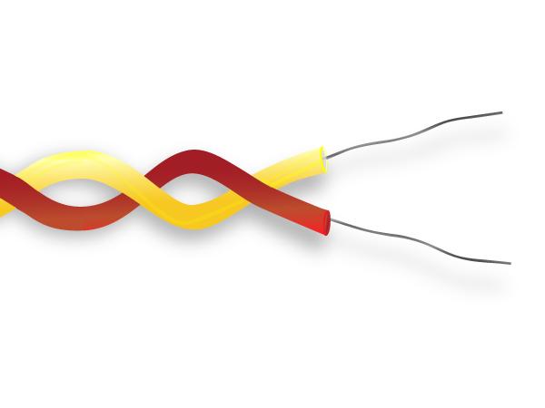 PFA ha isolato il cavo di termocoppia / filo ANSI