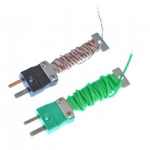 Termocoppia a giunzione a vista IEC cavo PFA con mini plug attrezzato - Tipi K,T