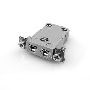 Pannello in miniatura Connettore termocoppia di montaggio con staffa in acciaio inossidabile AM-B-SSPF tipo B ANSI