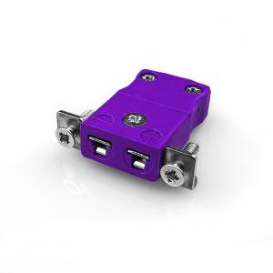 Pannello in miniatura Connettore termocoppia di montaggio con staffa in acciaio inossidabile AM-E-SSPF tipo E ANSI