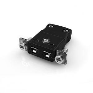 Pannello in miniatura Connettore termocoppia di montaggio con staffa in acciaio inossidabile AM-J-SSPF tipo J ANSI