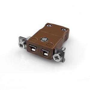 Pannello in miniatura Mount Thermocouple Connettore con Staffa in acciaio instaless JM-T-SSPF tipo T JIS