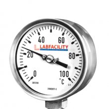 Bi-Metal Thermometer Temperature Gauges - Bottom Entry Style Without Pocket