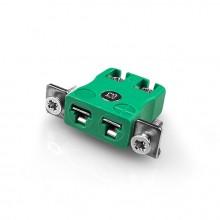 Miniatura rapido filo termocoppia connettore montaggio a pannello con staffa in acciaio inox IM-K-SSPFQ tipo IEC K
