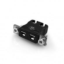 Miniatura rapido filo termocoppia connettore montaggio a pannello con staffa in acciaio inox IM-J-SSPFQ tipo J IEC
