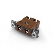In miniatura rapido filo termocoppia Connector montaggio a pannello con tipo di acciaio inox staffa IM-T-SSPFQ T IEC