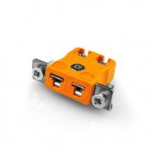 Miniatura rapido filo termocoppia Connector montaggio a pannello con staffa in acciaio inox tipo IM-R/S-SSPFQ R/S IEC