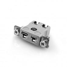 Miniatura rapido filo termocoppia connettore montaggio a pannello con acciaio inox staffa IM-B-SSPFQ IEC tipo B
