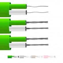 Tipo K isolato in PFA coppia piatta termocoppia cavo / filo (IEC)