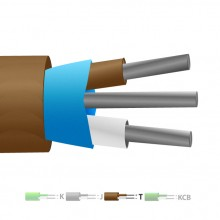 Isolati in PVC tipo T Mylar termocoppia cavo schermato / filo (IEC)