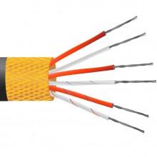 4 core PVC schermo di rame isolato, latta placcata, PRT sensore cavo / filo