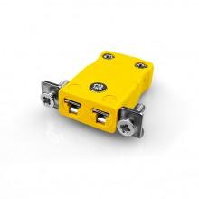 Pannello Mount termocoppia miniconnettore con staffa in acciaio inox JM-J-SSPF tipo J JIS